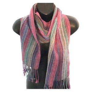 Accessories - Woven alpaca scarf